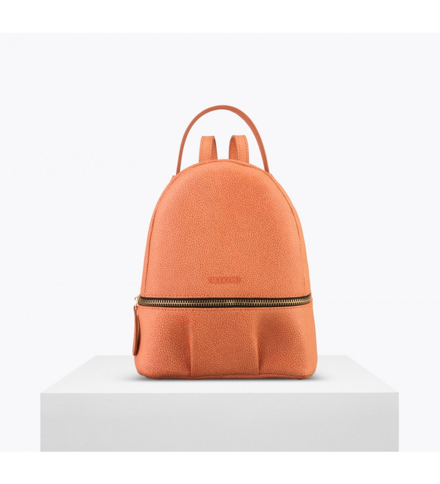 Orange Bio Leather Backpack