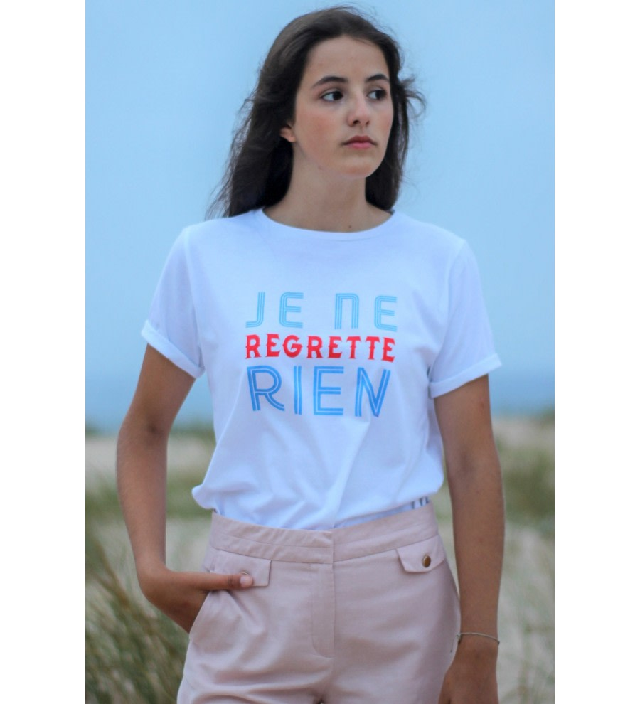Organic T-shirt Je Ne Regrette