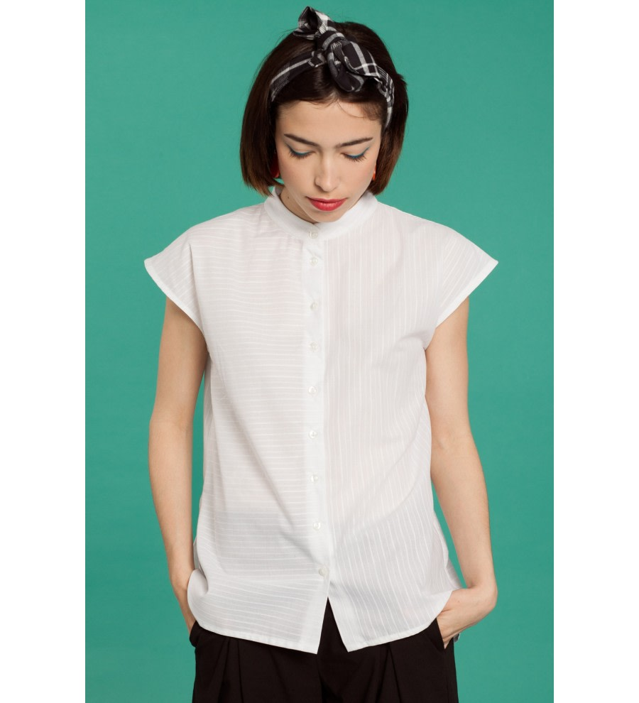 Ruffled Cotton Shirt