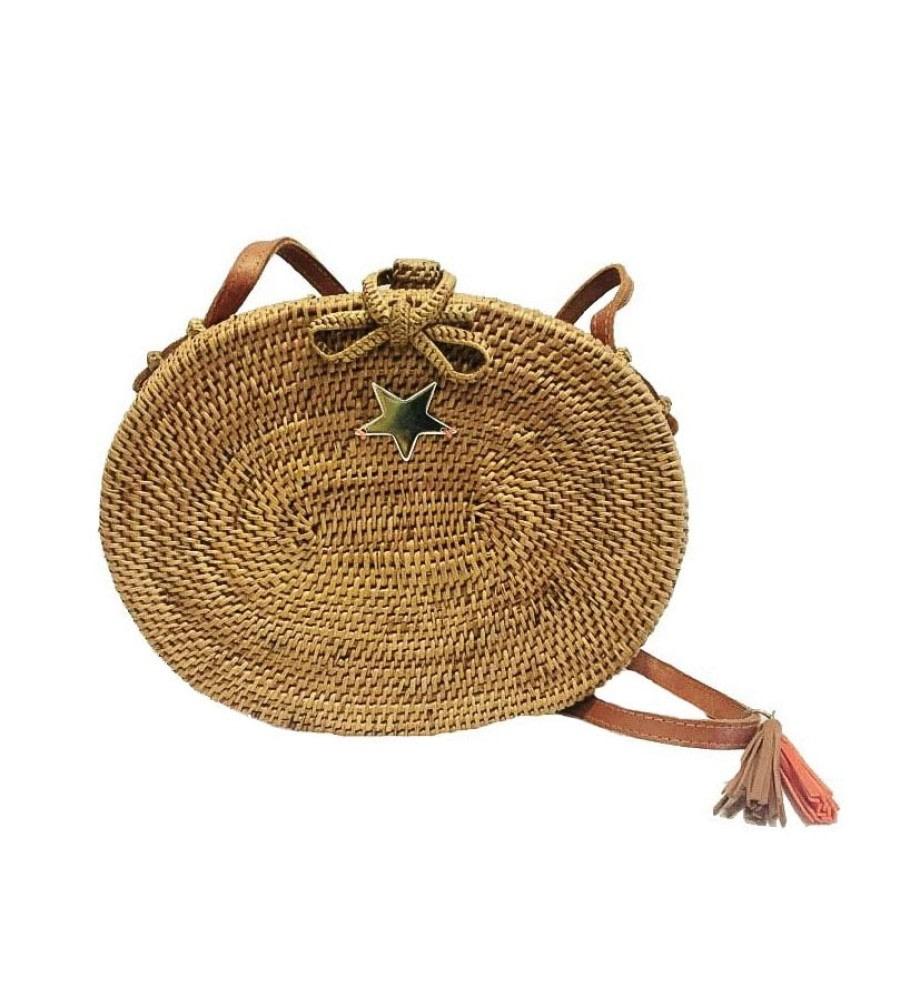 Saku Natural Wicker Bag