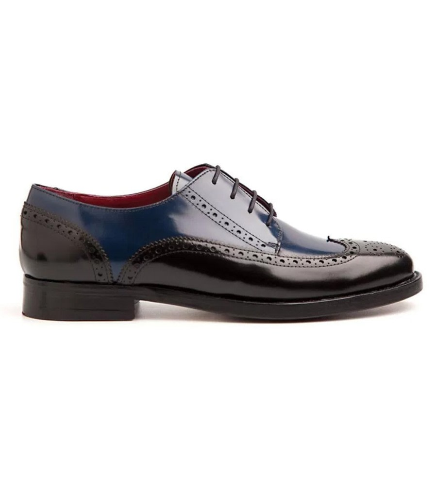 Black & Blue Leather Brogues