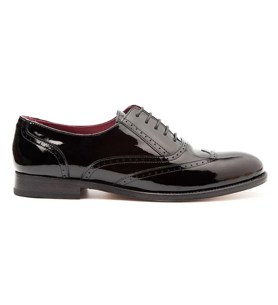 Lena Black Leather Brogues