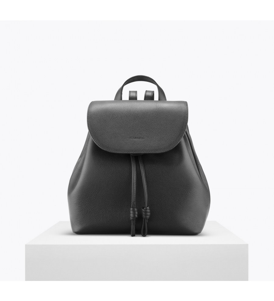Tulipa Black Bio Leather Backpack