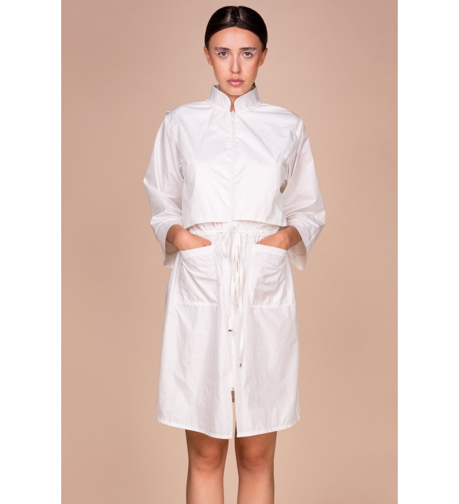 White Hooded Parka Coat