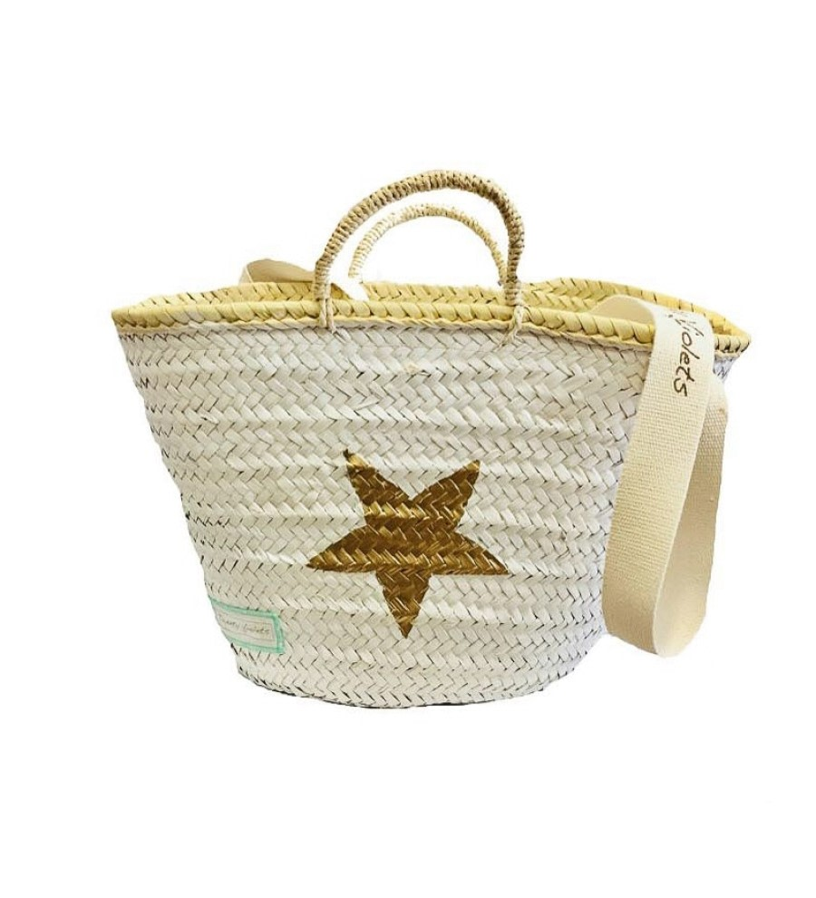 White Wicker Basket Bag