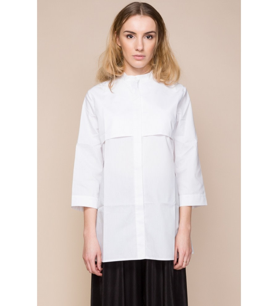 Long Grandad-Collar Shirt