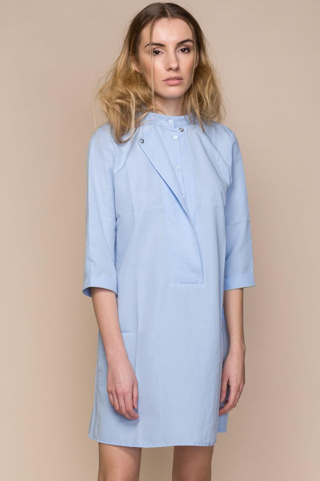 6e6f8602610f55 Blue Poplin Mini Shirt Dress | Sustainable, Slow Fashion | NEW DRESS ...