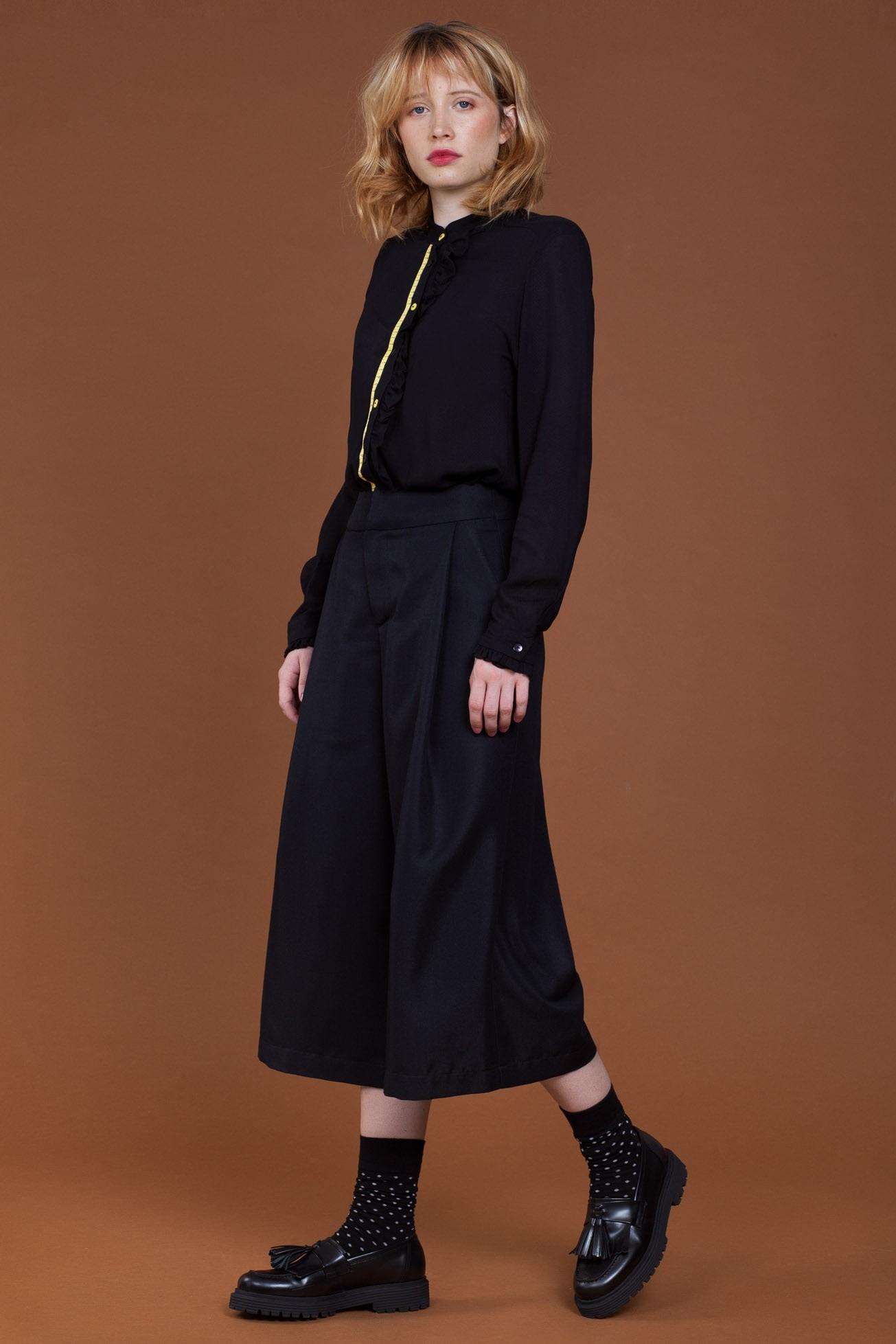 f17840e0e3 Black Cropped Dress Trousers