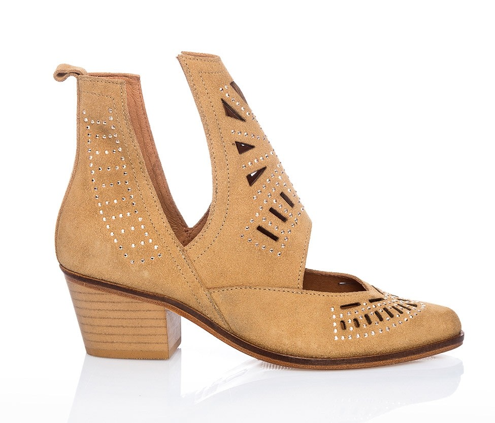 Cut-Out Suede Ankle Boots | European