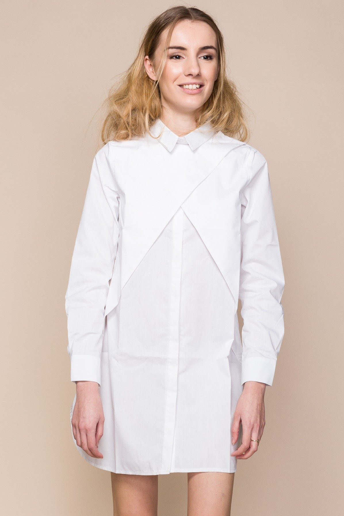 White Cotton Poplin Shirt Dress Sustainable Slow Fashion New