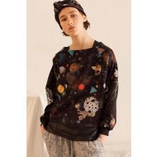 Galaxy Print Sweatshirt