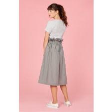 High-Waisted Midi Skirt