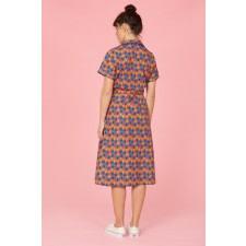 Pineapple Print Shirt Dress