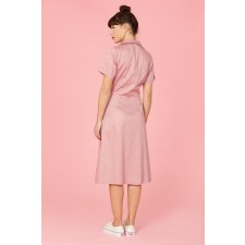 Dusty Rose Shirt Dress