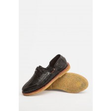 Benito Black Woven Loafers