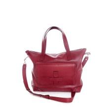Bordeaux Leather Shoulder Bag