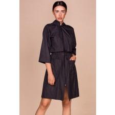 Black Hooded Parka Coat