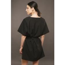 Black Mini Robe Dress
