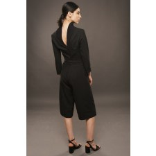 Black Turtleneck Jumpsuit