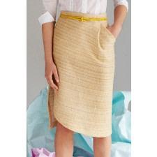 Organic Cotton-Hemp Pencil Skirt