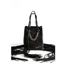 Mini Tassel Leather Tote Bag