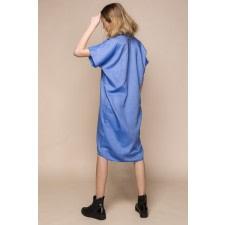 Oversized Denim Shirt Dress
