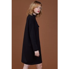 Pencil-Patch Oversized Dress
