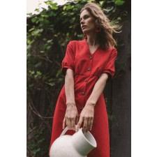 Red Organic Cotton Mini Dress