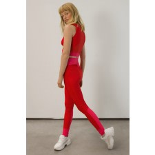 Red UPF 50+ High-Waist Leggings