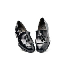 Tammi Black Tassel Loafers