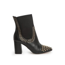 Studded Block-Heel Ankle Boots