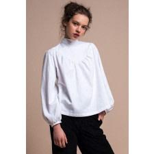 White Organic Cotton Blouse