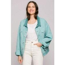 Aquamarine Oversized Denim Jacket