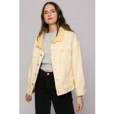 Yellow Oversized Denim Jacket
