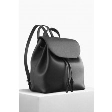 Tulipa Black Bio Leather Backpack