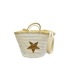 White Wicker Basket Bag