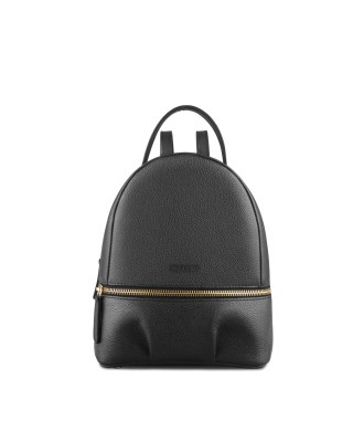 Black Bio Leather Backpack