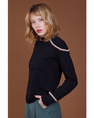 Watercolor Cotton Long-Sleeve Top
