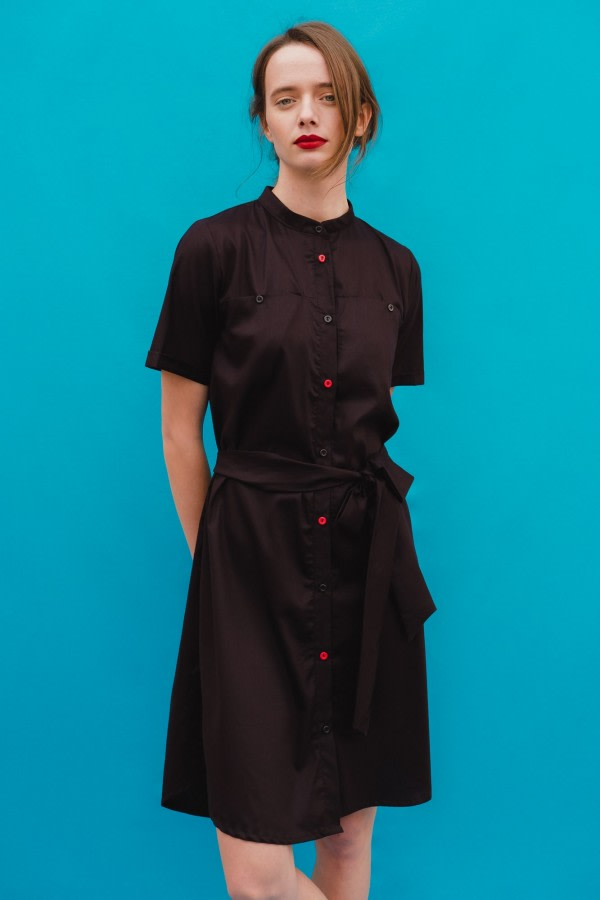 Blow Pop Black Shirt Dress
