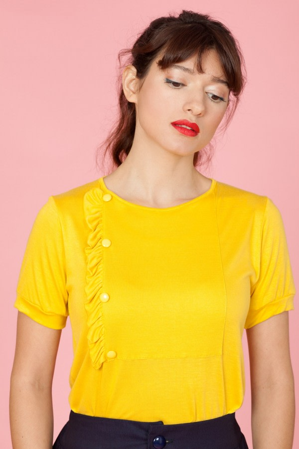 Yellow Ruffle T-Shirt