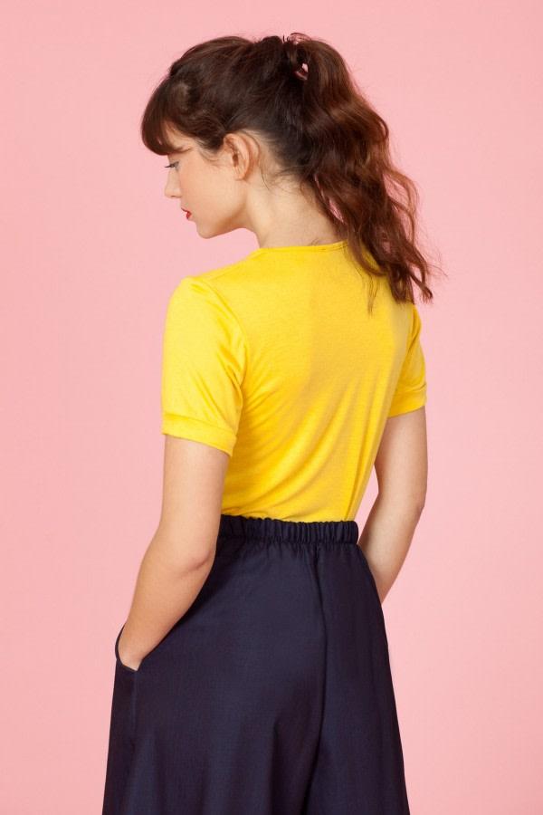 Yellow Ruffle T-Shirt
