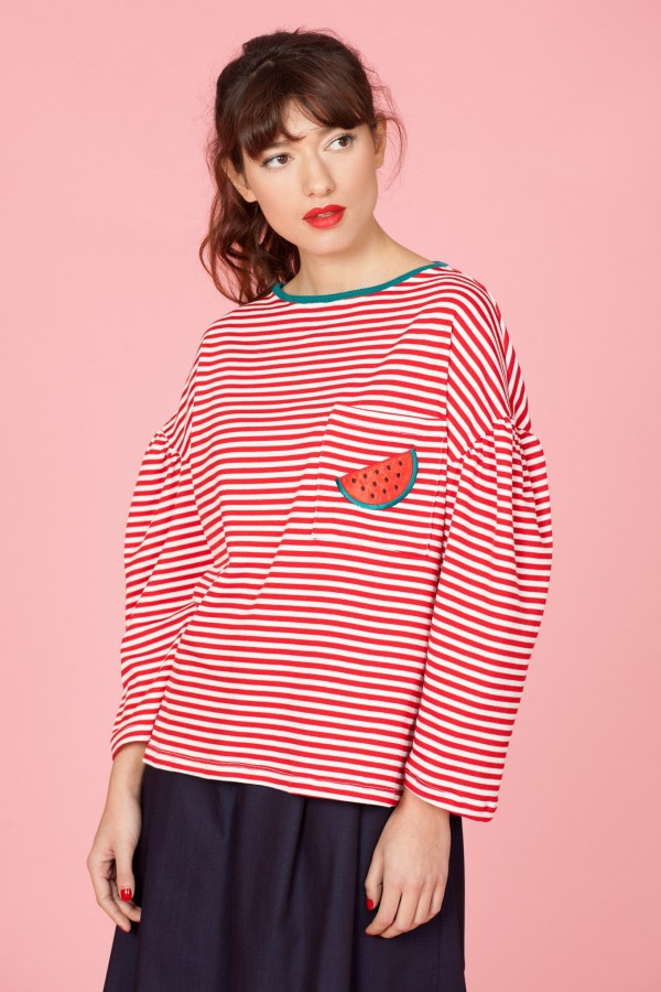 Watermelon Striped Jumper