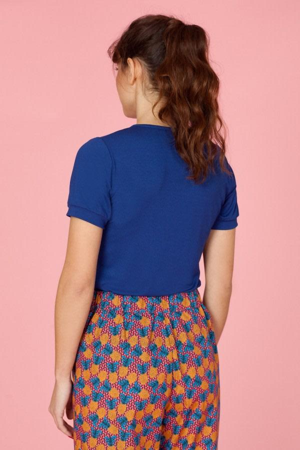 Blue Ruffle T-Shirt