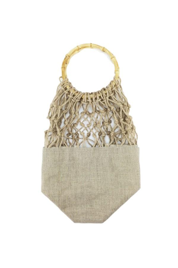 Bamboo-Handle Net Bag