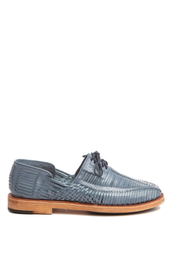 Benito Blue Woven Loafers