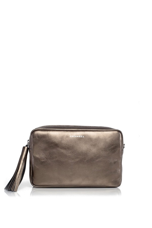 Bronze Leather Crossbody Bag