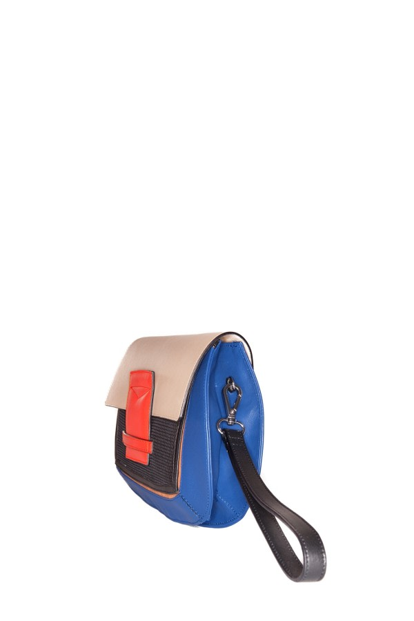 Helena Multicolor Leather Clutch