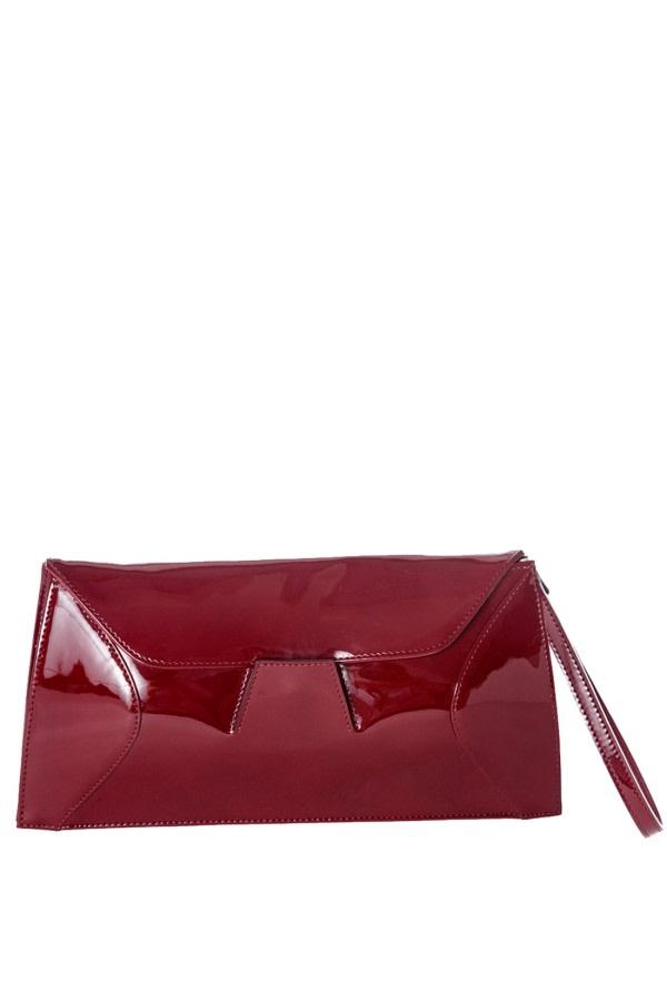 Garnet Patent Leather Clutch