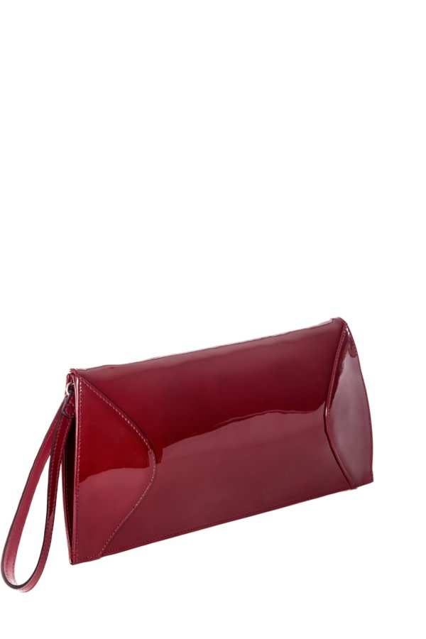 Garnet Patent Leather Clutch