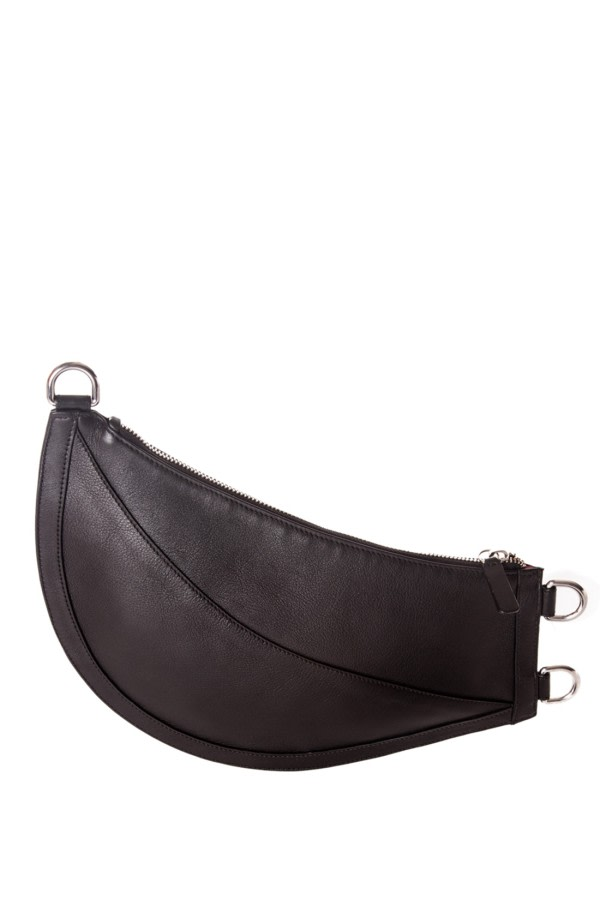 Cuerno Black Leather Clutch